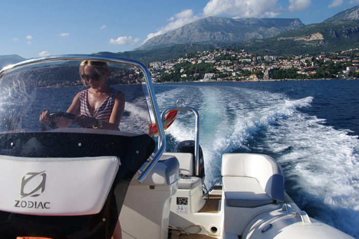 Speed-boat cruising. Feel the summer