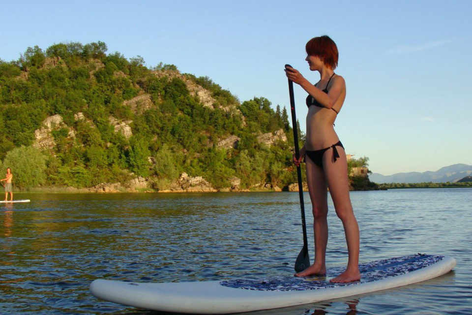 (SUP) Stand-Up-Paddling. Exciting and different