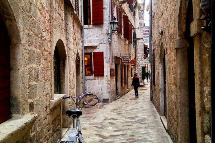 Zanatska Ulica (Craft Street) in Old Town Kotor