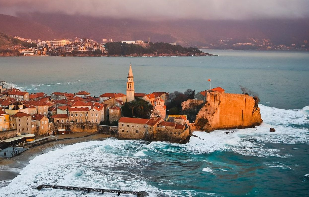 Montenegro winter Budva