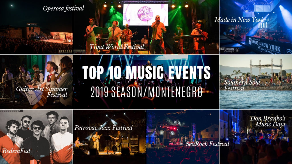 Top 10 international music events in Montenegro for the